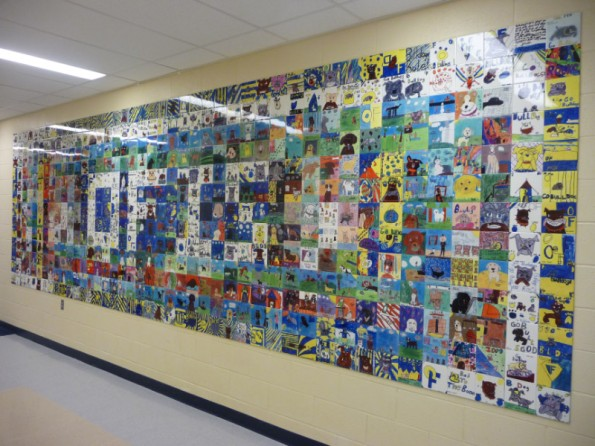 Thank you students for your efforts in creating this new Bulldog Tile Wall.
