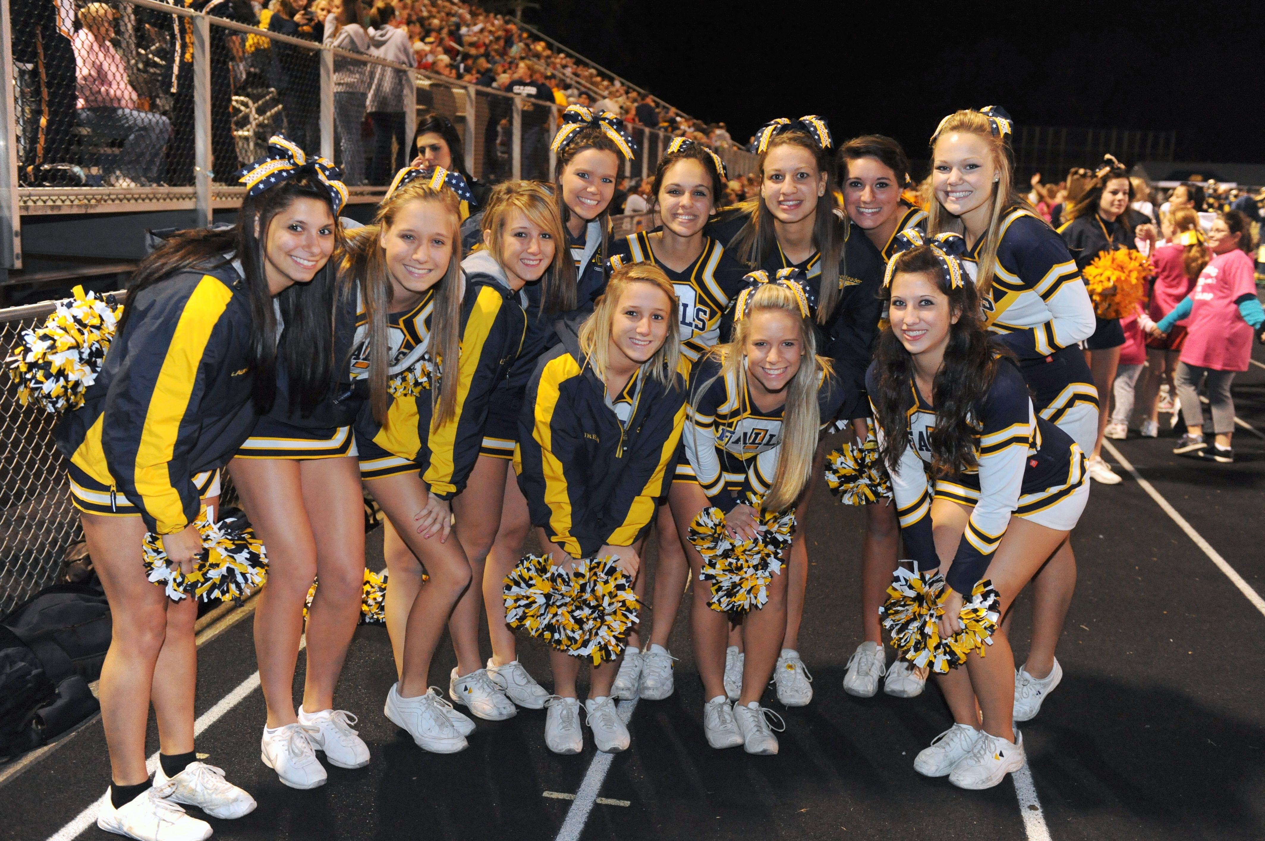 Cheerleading Squad was one of several local high school cheerleading ...