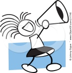 217745-Royalty-Free-RF-Clipart-Illustration-Of-A-Stick-Cheerleader-Girl-Using-A-Megaphone