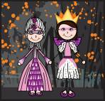 Halloween-Princess-trick-or-treat