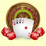 12819907-illustration-of-casino-roulette-wheel-with-cards-and-dice-isolated-on-white-background