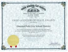 Auditor of State Certificate 2012