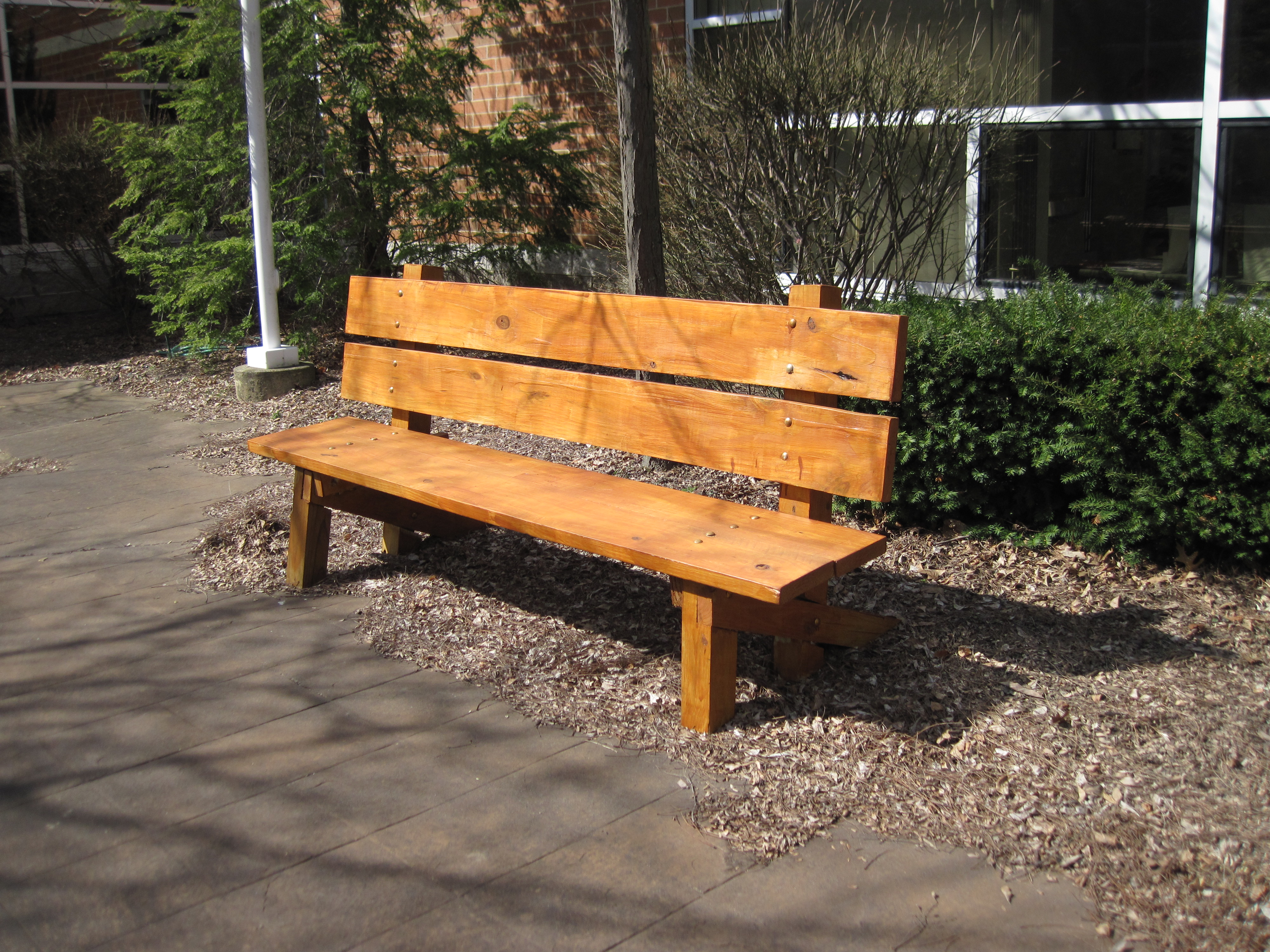 Wood wooden athletic bench plans pdf plans for Wood bench ideas