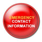 emergency contact info graphic