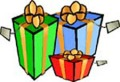 Christmas wrapped presents