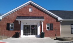 Olmsted Falls library main doors April 2013 IMAG1710