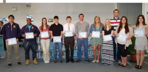 honored winter season athletes
