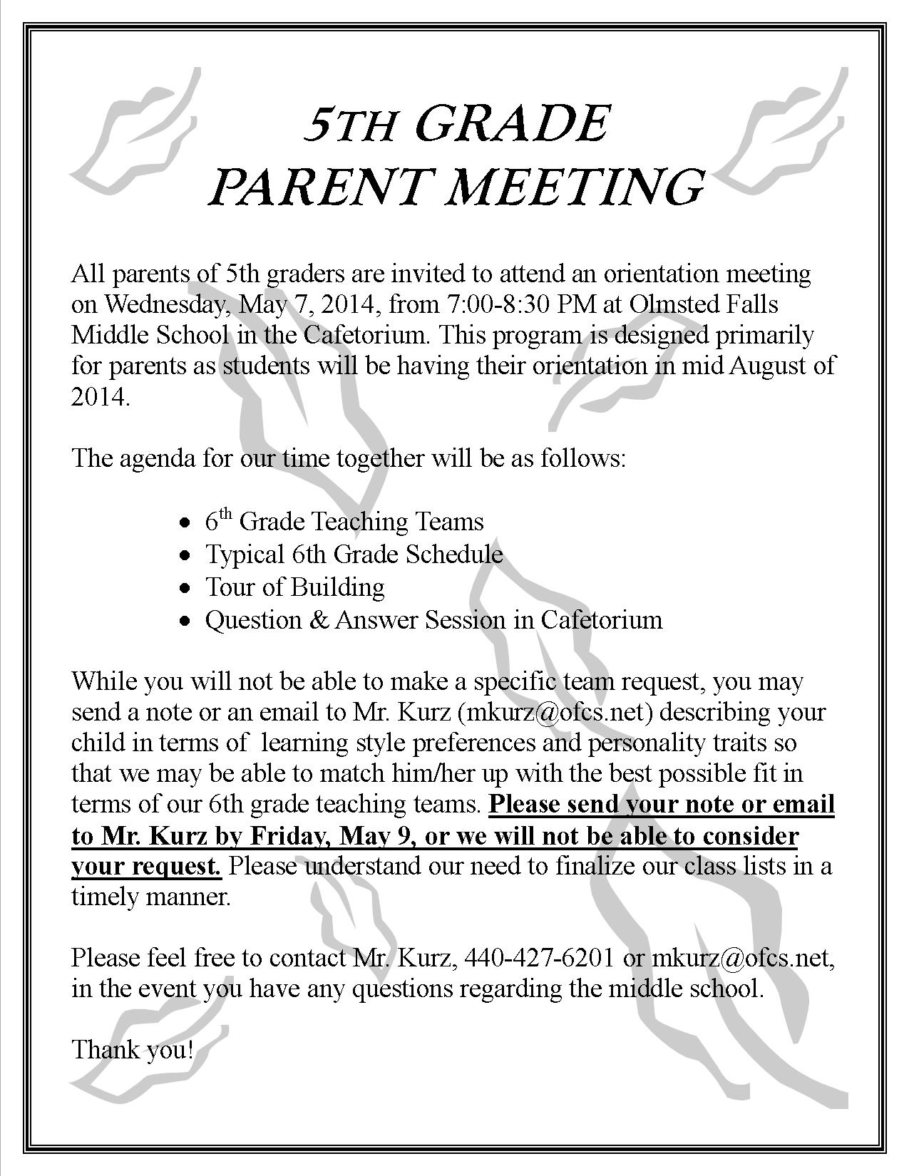 Parent Update – May 2, 2014 | Olmsted Falls Schools - Blog ...