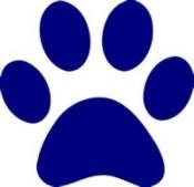 bulldog paw blue