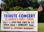 Labor Day concert sign
