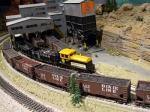 model railroad train set up