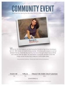 Rachel's Challenge - Parent Event 10-6-14