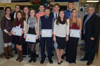Fall sports honorees