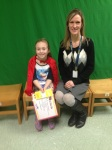Falls student Amy Harris with  Emily Krofta