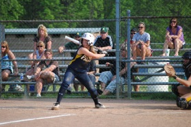 Kim Kirkpatrick is pictured her in her final game as a Bulldog senior.