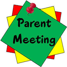 Parent Meeting  Note pinned on board