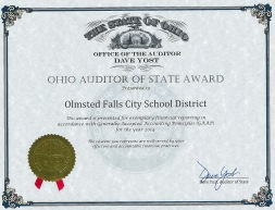 Auditor of State Award 2015