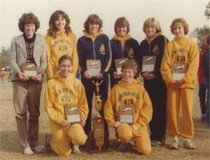 1980 girls Xcountry team