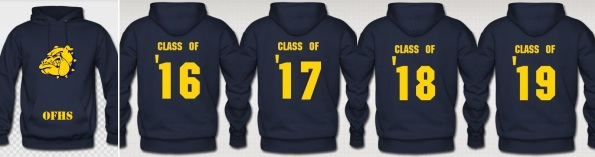 OFHS class shirts 2015-2016 hoodie