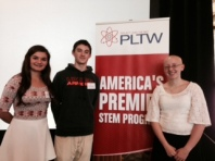 Robotics students at PLTW conference