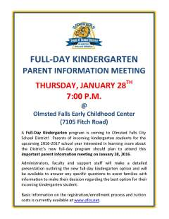Parent Meeting Flyer for 1-28-16