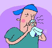 illness blowing nose
