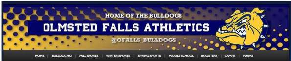 OF ATHLETICS WEBSITE GRAPHIC