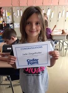 Jade Ziegelhofer, 1st place