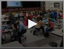 Click above to view a video from the Community Hour of Code event.