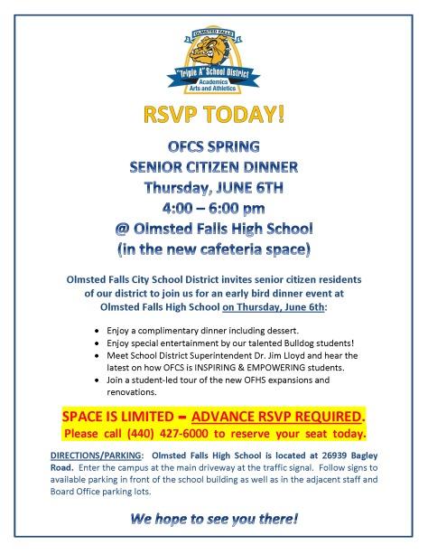 OFCS 6-6-19 Senior Citizen Dinner_Invite Flyer