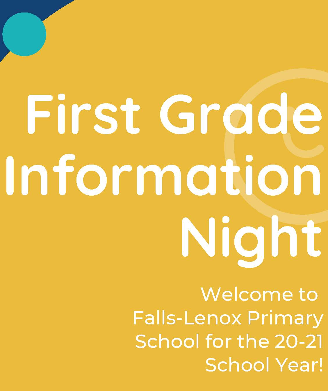 First Grade Info Night